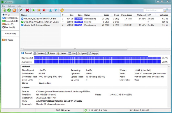 utorrent-downloading
