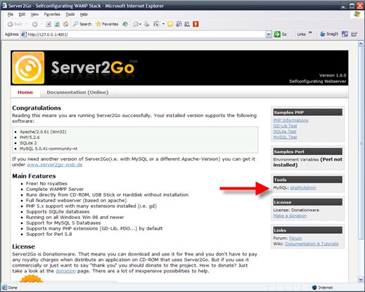 server2go-webserver